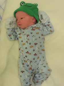 Nicholas in his going home outfit
